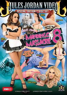 Mandingo Massacre 8, starring Lia Lor, Mischa Brooks, Chanel Preston, Lea Lush, Sarah Jessie, Kelly Divine and Mandingo, produced by Jules Jordan Video.