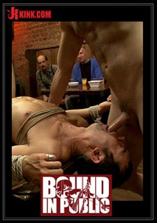 Bound In Public: Bar Whore, starring Cole Streets, Christian Wilde and Scout (m), produced by KinkMen.
