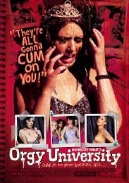 """Featured Category - Schoolgirls presents the adult entertainment movie """"Orgy University""""."""