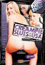 """Featured Category - Cream Pies presents the adult entertainment movie """"Creampie Sluts Of The USA""""."""
