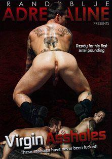 Virgin Assholes, starring Derek Atlas, Nick Sterling, Milo Sommers, Jordan Levine, Chris Bines, Bryce Tucker, Adi Hadad, Chris Rockway and Marcel Cruz, produced by Randy Blue.