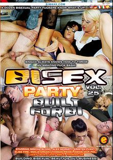 Bi Sex Party 25: Built For Bi, starring Lucky Jack, Denis Marpol, Zack Hood, Black, Lucky Smile, Thomas Lee, Mischa Blond, Alex Monneti, Emylia Argan, Kristen Plant, Rachel La Rouge and Eliss Fire, produced by Eromaxx.