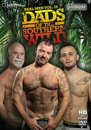 Real Men 25: Dads Of The Southern Wild, starring Luciano, Marcel, Jake Shores, Cameron Kincade, Dick Ryan and Steve King, produced by Pantheon Productions.