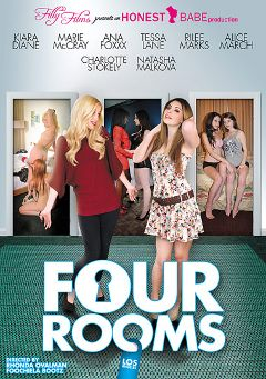 "Adult entertainment movie ""Four Rooms: Los Angeles"" starring Alice March, Natasha Malkova & Ana Foxx. Produced by Filly Films."