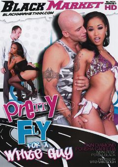 "Adult entertainment movie ""Pretty Fly For A White Guy"" starring Porche Carrera, Skin Diamond & Persia Black. Produced by Black Market Entertainment."