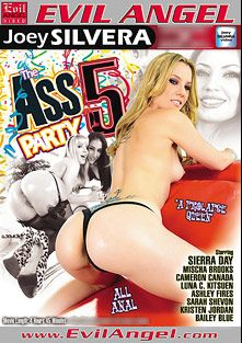 The Ass Party 5 Part 2, starring Luna Kitsuen, Cameron Canada, Sierra Day, Kristen Jordan, Mischa Brooks, Dahlia Sky, Sarah Shevon, Jordan Ash, Ashley Fires, Kurt Lockwood, Chris Johnson and Joey Silvera, produced by Evil Angel and Joey Silvera Video.