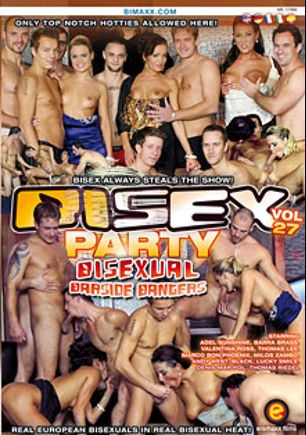 Bi Sex Party 27: Bisexual Barside Bangers, starring Andy West, Denis Marpol, Milos Zambo, Zack Hood, Marco Bon Phoenix, Black, Lucky Smile, Thomas Lee, Valentina Ross, Adel Sunshine and Barra Brass, produced by Eromaxx.