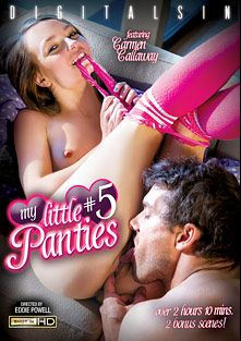 My Little Panties 5, starring Carmen Callaway, Kennedy Leigh, Cali Hayes, Natasha Malkova, Cassandra Nix, Bruce Venture, Xander Corvus, Ramon Nomar and Mr. Pete, produced by Digital Sin.