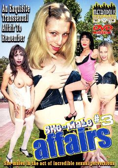 "Adult entertainment movie ""Shemale Affairs 3"" starring Valeska (o), Buffy & Mai Tai. Produced by Heatwave Entertainment."