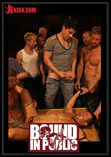 Bound In Public: The Nob Hill Theater Slut, starring Tristan Jaxx and Dominik Rider, produced by KinkMen.