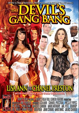 The Devil's Gang Bang, starring Chanel Preston, Lisa Ann, Ike Diezel, Bill Bailey, Danny Wylde, D-Snoop, Julius Ceazher, Marcus London, Mr. Pete, Wesley Pipes, Mark Anthony, John Strong, Mark Davis and Evan Stone, produced by Devil's Film and Devils Film.