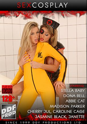 Sex Cosplay, starring Wendy Star, Donna Bella, Abbie Cat, Stella Baby, Madison Parker, Jasmine Black, Cherry Jul, Caroline Cage, Black Mamba, James Brossman, Frank Gun and Nick Lang, produced by DDF Production Ltd.