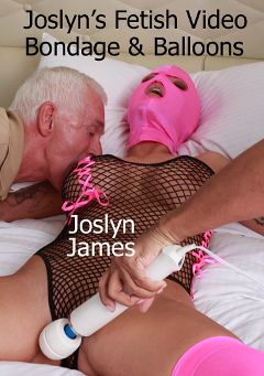 "Adult entertainment movie ""Joslyn's Fetish Video Bondage And Balloons"" starring Joslyn James & Carl Hubay. Produced by Hot Clits Video."