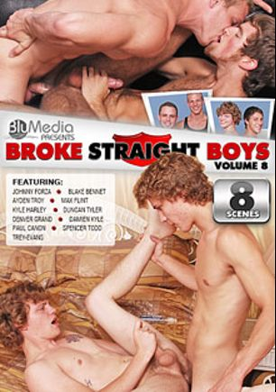 Broke Straight Boys 8, starring Damien Kyle, Paul Canon, Denver Grand, Max Flint, Ayden Troy, Trey Evans, Blake Bennett, Duncan Tyler, Spencer Todd, Kyle Harley and Johnny Forza, produced by Brokestraightboys.
