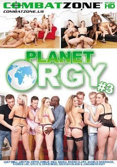 "Adult entertainment movie ""Planet Orgy 3"" starring Kettz, Les Fox & Lucy Bell. Produced by Combat Zone."