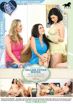 "Adult entertainment movie ""College Cuties Seduce MILF Beauties"" starring Belle Noire, Nikki Phoenix & Lilly Evans. Produced by Filly Films."