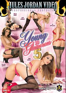 Young And Glamorous 5, starring Belle Noire, Dillion Harper, A.J. Applegate, Zoey Monroe, Dani Daniels, Ramon Nomar, Manuel Ferrara, Mr. Pete, Mark Wood and Erik Everhard, produced by Jules Jordan Video.