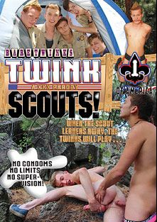 Twink Scouts XXX A Porn Parody, starring Tanner Sharp, Ryker Madison, Andy Kay, Billy London, Jason Valencia and Jasper Robinson, produced by Boy Crush.