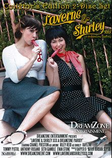 Laverne And Shirley The XXX Parody, starring Riley Reid, Chanel Preston, Seth Gamble, Tommy Pistol, Anthony Rosano, Raylene and Evan Stone, produced by DreamZone.