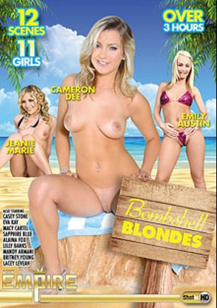 Bombshell Blondes, starring Emily Austin, Embry Prada, Jeanie Marie, Sapphire Blue, Eva Kay, Lilly Banks, Macy Cartel, Casey Stone, Alex Jones, Alaina Fox, Lacey Leveah, Britney Young, Casi James, Alan Stafford, Kris Slater and Ashley Nicole, produced by AMKingdom.