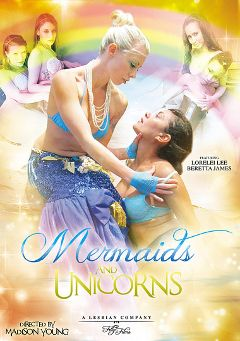 "Adult entertainment movie ""Mermaids And Unicorns"" starring Missy Minks, Beretta James & Ela Darling. Produced by Filly Films."