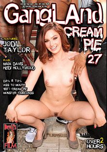 Gangland Cream Pie 27, starring Jodi Taylor, Isiah Maxwell, Heidi Hollywood, Maia Davis, Jason Brown, Jon Jon, D-Snoop, Hooks, Lee Bang and Wesley Pipes, produced by Devil's Film and Devils Film.