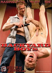 Backyard Boys, starring Blue Bailey, Blake Daniels, Preston Steel, Shay Michaels, Logan Stevens, Race Cooper and Leo Forte, produced by Raging Stallion Studios and Falcon Studios Group.