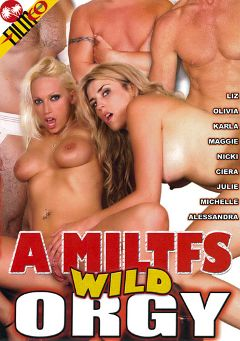 "Adult entertainment movie ""A MILTFS Wild Orgy"" starring Nicki Hunter, Teoni & Andrew Castro. Produced by Filmco."