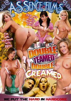 "Adult entertainment movie ""Double Teamed And Double Creamed"" starring Xandy (f), Mia Grey & Kristi Klenot. Produced by Assence Films."