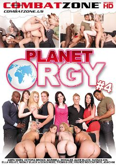 "Adult entertainment movie ""Planet Orgy 4"" starring Sussan Ayn, Ella Velvet & Nataly Black. Produced by Combat Zone."