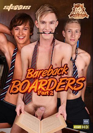 Bareback Boarders 2, starring Jaxon Radoc, Blake Hanson, Connor Levi, Sven Larsson, Daniel Prince, Thomas Swings, Rhys Casey and Tim Law, produced by Staxus.