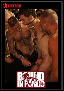 Bound In Public:  Ripped Boy Gets His Hole Shocked And At Mr. S Leather Store, starring DJ and Josh West, produced by KinkMen.