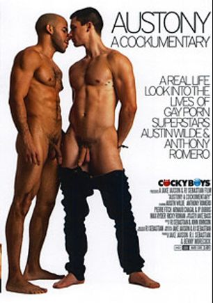 Austony A Cockumentary, starring Austin Wilde, Anthony Romero, Ricky Roman, Max Ryder, Jake Bass, Arnaud Chagall, J.P. Dubois and Pierre Fitch, produced by Cockyboys.