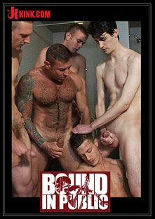 Bound In Public: Gym Rat And The Gay Mafia, starring Adam Knox, Nick Moretti and Tristan Jaxx, produced by KinkMen.
