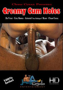 Creamy Cum Holes, starring Chase Coxxx, Cory Koons, Da Vinci, Armond Rizzo and Davinci, produced by JuicyGigolo Entertainment.