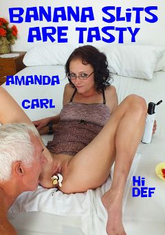 "Adult entertainment movie ""Banana Slits Are Tasty"" starring Amanda Smith & Carl Hubay. Produced by Hot Clits Video."