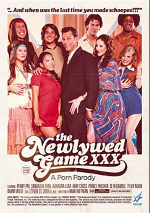The Newlywed Game XXX: A Porn Parody, starring Abby Cross, Penny Pax, Adrianna Luna, Samantha Ryan, Tyler Nixon, Seth Gamble, Prince Yahshua, Danny Wylde and Steven St. Croix, produced by Vivid Entertainment.