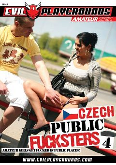"Adult entertainment movie ""Czech Public Fucksters 4"" starring Darling, Suzette & Zuzana. Produced by Evil Playgrounds."