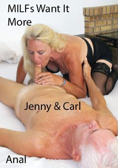 "Adult entertainment movie ""MILFs Want It More"" starring Jenny & Carl Hubay. Produced by Hot Clits Video."