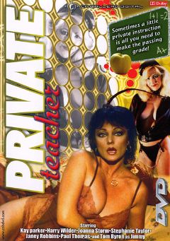 "Adult entertainment movie ""Private Teacher"" starring Kay Parker, Joanna Storm & Janey Robbins. Produced by Caballero Video."