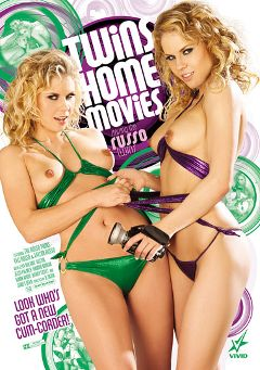 "Adult entertainment movie ""Twins Home Movies"" starring Tati Russo, Taylor Russo & Ella Milano. Produced by Vivid Entertainment."
