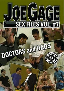 Joe Gage Sex Files 7: Doctors And Dads, starring Zander Drum, Tony Bay, Dick Axel, Bryan Slater, Jake Steel, Roger, Adrian R., Spike, Josh Kole and Zach Alexander, produced by Dragon Media.