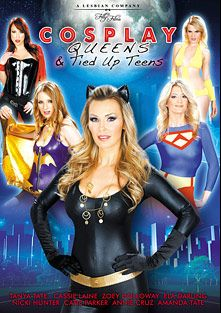 Cosplay Queen And Tied Up Teens, starring Amanda Tate, Catie Parker, Ela Darling, Tanya Tate, Nicki Hunter, Cassie Laine, Zoe Holloway and Annie Cruz, produced by Filly Films.