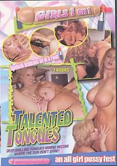 "Adult entertainment movie ""Talented Tongues"". Produced by Caballero Video."
