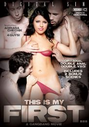 "Featured Category - Anal presents the adult entertainment movie ""This Is My First... A Gangbang Movie""."