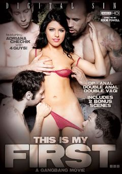 "Adult entertainment movie ""This Is My First... A Gangbang Movie"" starring Adriana Chechik, Luna Kitsuen & Carlo Carrera. Produced by Digital Sin."