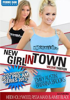 "Adult entertainment movie ""New Girl In Town 13"" starring Emily Austin, Brianna Brooks & Aimee Black. Produced by Immoral Productions."