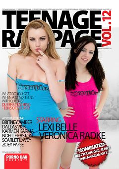 "Adult entertainment movie ""Teenage Rampage 12"" starring Veronica Radke, Lexi Belle & Dallas Vick. Produced by Immoral Productions."