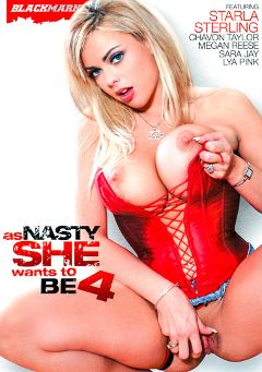 "Adult entertainment movie ""As Nasty As She Wants To Be 4"" starring Starla Sterling, Lya Pink & Jonny Slim. Produced by Black Market Entertainment."