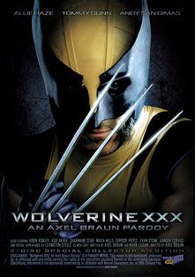 Wolverine XXX An Axel Braun Parody, starring Allie Haze, Mike Moz, Hank Hoffman, Andy Appleton, Xander Corvus, Aiden Ashley, Andy San Dimas, Asa Akira, Derrick Pierce, Maya Hills, Tommy Gunn, Charmane Star, Lexington Steele and Evan Stone, produced by Vivid Entertainment and Vivid XXX Super Heroes.